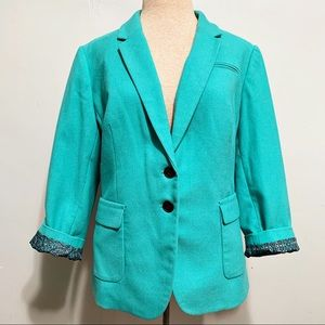 NWT Limited Turquoise Blue Blazer Paisley Lined